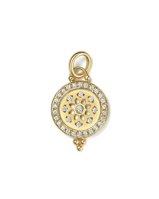 Temple St. Clair   Metallic 18k Gold Halo Mandala Cutout Pendant With Pave Diamonds   Lyst