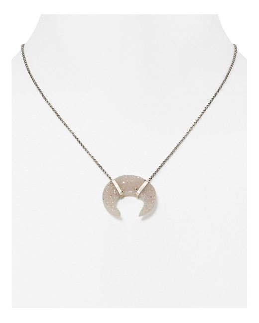 Chan Luu | Metallic Agate Horn Pendant Necklace, 16"
