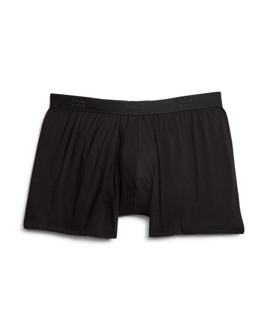 Derek Rose | Black Pima Cotton Stretch Boxer Briefs for Men | Lyst