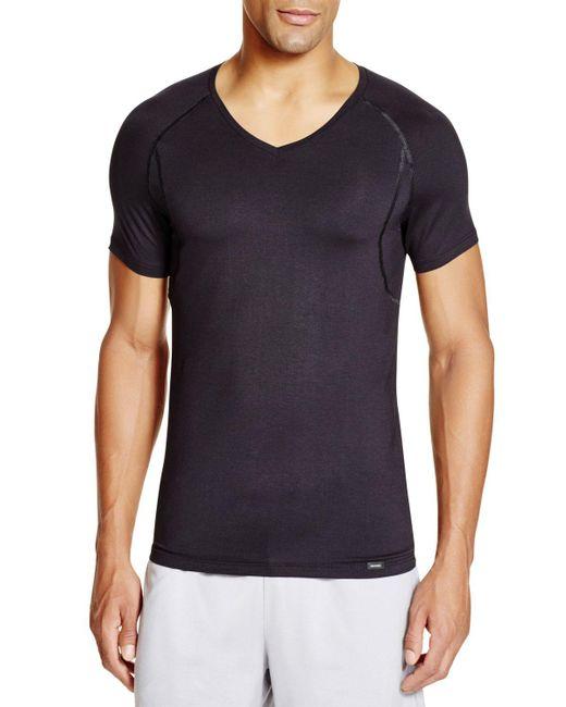 Hanro   Black Urban Touch Short Sleeve Shirt for Men   Lyst