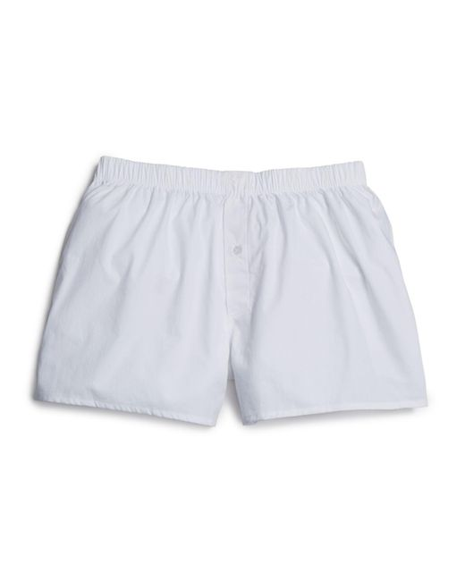 Hanro | White Check Print Cotton Boxers for Men | Lyst