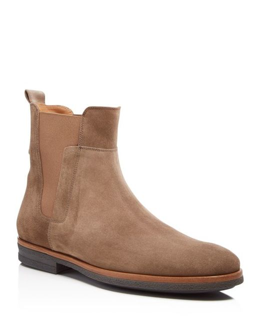 vince harvey suede chelsea boots in beige for men truffle lyst. Black Bedroom Furniture Sets. Home Design Ideas