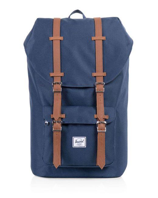 Herschel Supply Co. - Blue Classic Little America Backpack for Men - Lyst  ... e38a8c4805