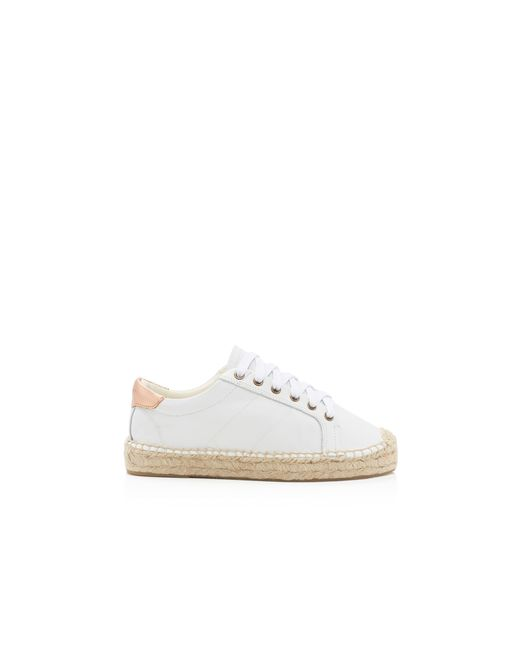 soludos platform tennis sneakers in white lyst