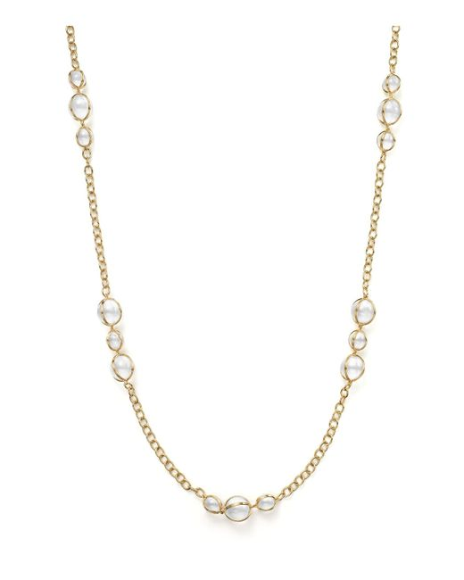 Temple St. Clair | Metallic 18k Gold Amulet Necklace With Rock Crystal And Diamonds | Lyst