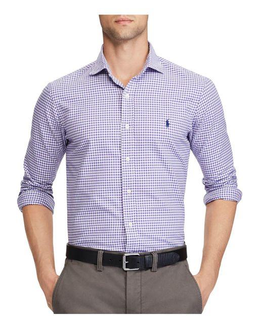 Polo Ralph Lauren | Purple Standard Fit Gingham Oxford Button-down Shirt for Men | Lyst