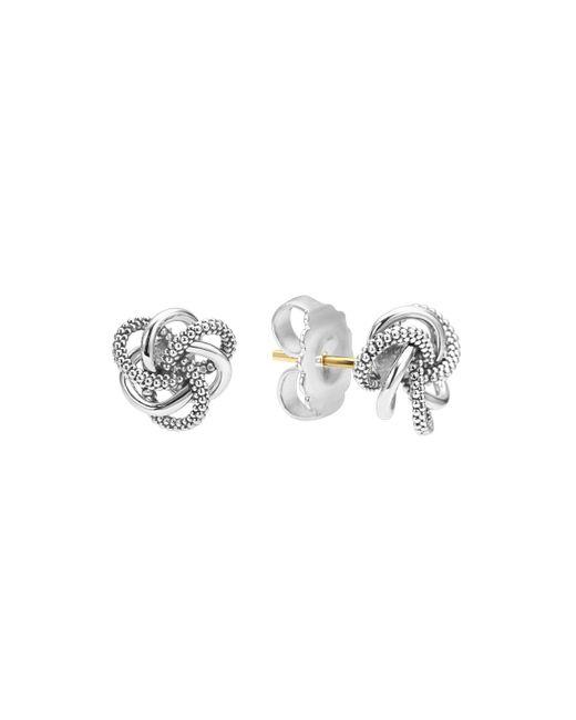 Lagos   Metallic Sterling Silver Love Knot Stud Earrings   Lyst