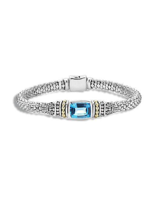 Lagos | Blue 'caviar Color' Semiprecious Stone Bracelet | Lyst