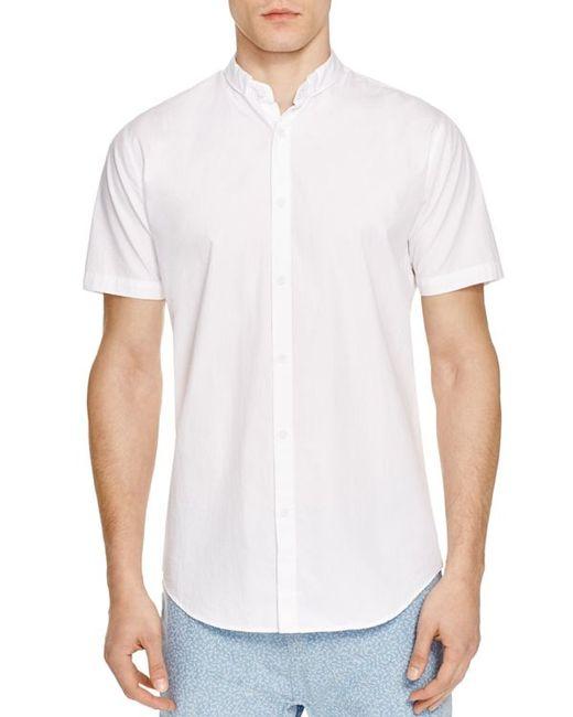 Zanerobe tuck regular fit short sleeve button down shirt for White short sleeve button down shirts for men