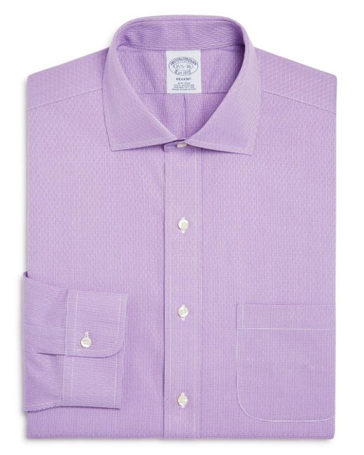 Brooks Brothers - Purple Regent Diamond Weave Micro Houndstooth Classic Fit Dress Shirt for Men - Lyst