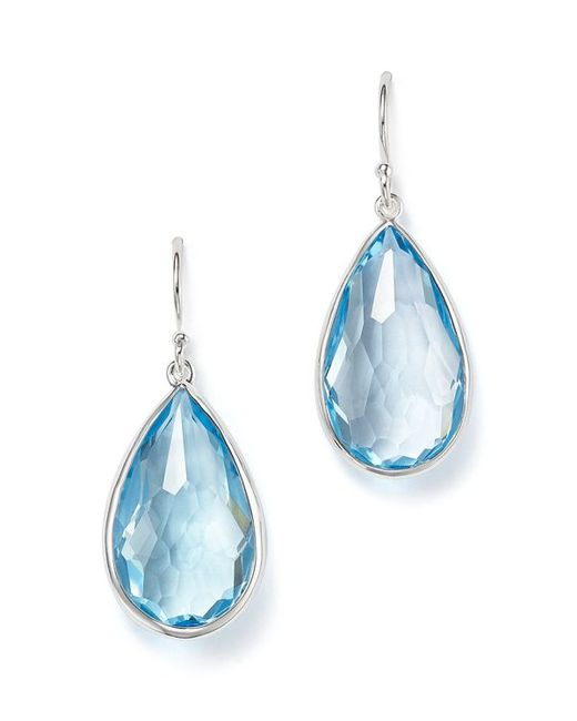 Ippolita Sterling Silver Rock Candy Teardrop Earrings With