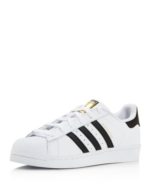 Adidas Originals | White Women's Superstar Foundation Lace Up Sneakers | Lyst