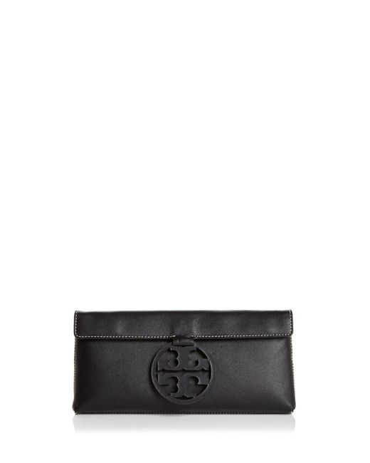 Tory Burch - Black Miller Leather Clutch - Lyst
