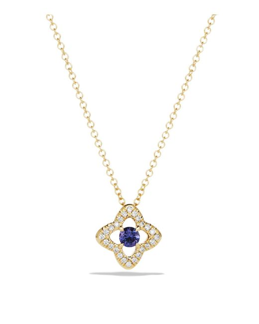 David Yurman | Blue Venetian Quatrefoil Necklace With Tanzanite And Diamonds In 18k Gold | Lyst
