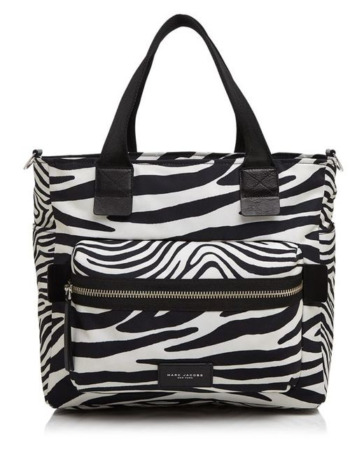 marc jacobs zebra biker diaper bag in white off white multi save 30 lyst. Black Bedroom Furniture Sets. Home Design Ideas