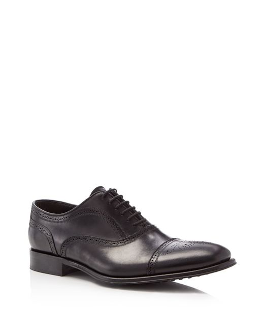 To Boot | Black David Medallion Cap Toe Oxfords for Men | Lyst