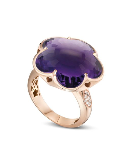 Pasquale Bruni - Purple 18k Rose Gold Bon Ton Floral Amethyst & Diamond Ring - Lyst