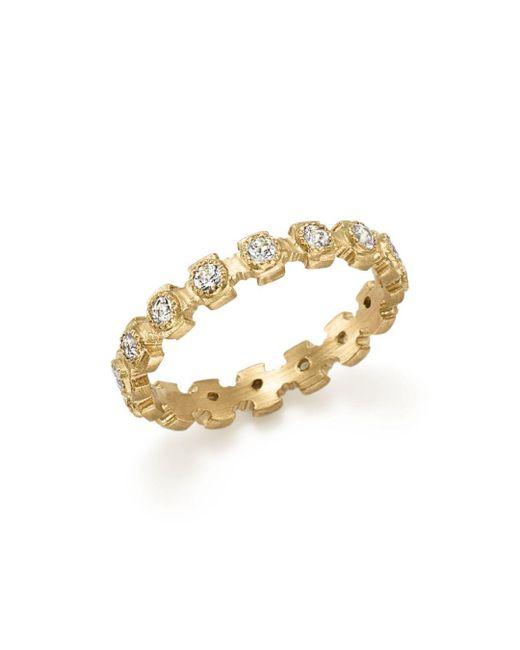 Armenta - Metallic 18k Yellow Gold Sueno Diamond Stacking Ring - Lyst