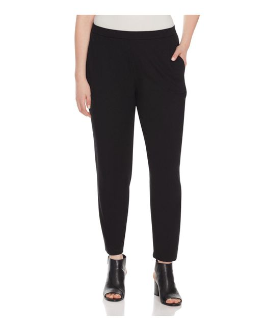 Eileen Fisher | Black System Slim Slouchy Ankle Pants | Lyst