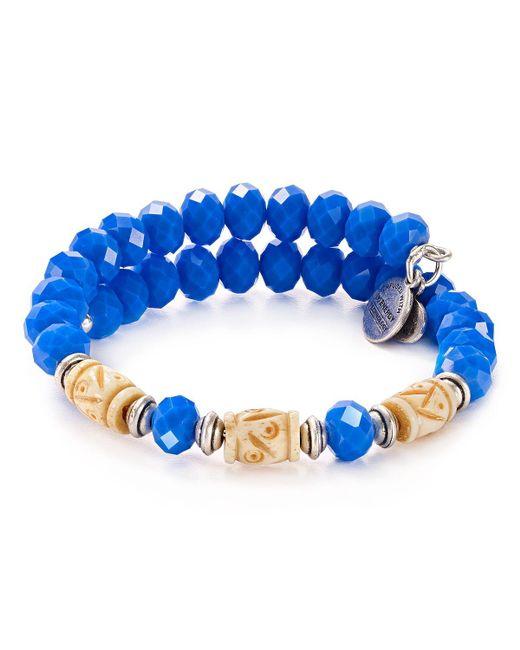 ALEX AND ANI   Blue Ultramarine Adventures Wrap Bracelet   Lyst
