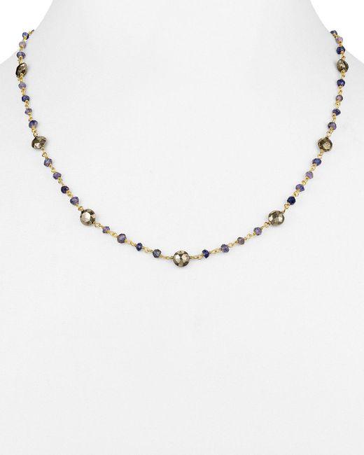 "Ela Rae | Metallic Diana Satellite Layering Necklace, 18"" | Lyst"
