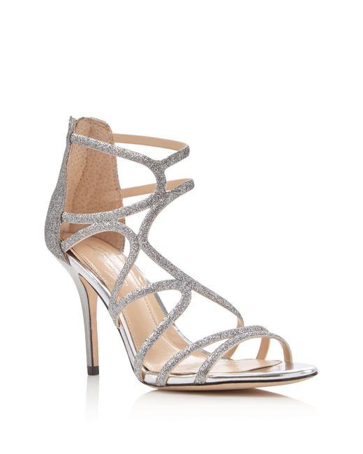 Imagine Vince Camuto | Metallic Ranee Glitter Strappy Sandals | Lyst