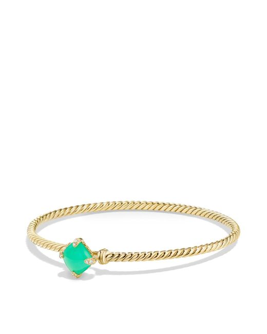 David Yurman | Metallic Châtelaine Bracelet With Chrysoprase And Diamonds In 18k Gold | Lyst