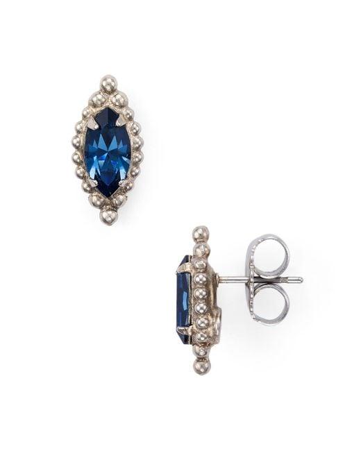 Sorrelli | Metallic Swarovski Crystal Stud Earrings | Lyst