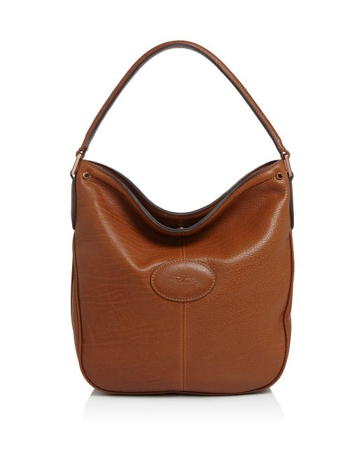 Longchamp Hobo Laukku : Longchamp mystery hobo in brown lyst