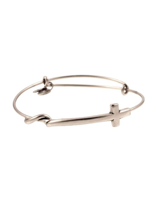 ALEX AND ANI - Metallic Cross Wrap Expandable Wire Bangle - Lyst