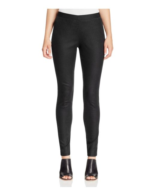 Eileen fisher Denim Leggings in Black | Lyst