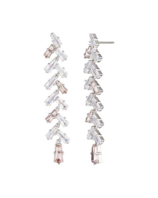 Carolee - Metallic Linear Drop Earrings - Lyst