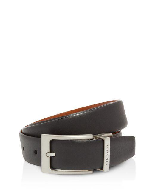 Ted Baker - Black Karmer Reversible Leather Belt for Men - Lyst