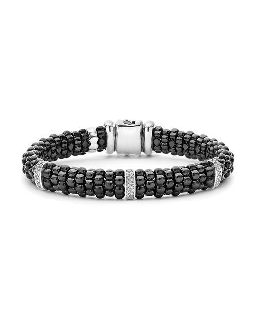 Lagos | Metallic Black Caviar Ceramic Bracelet | Lyst