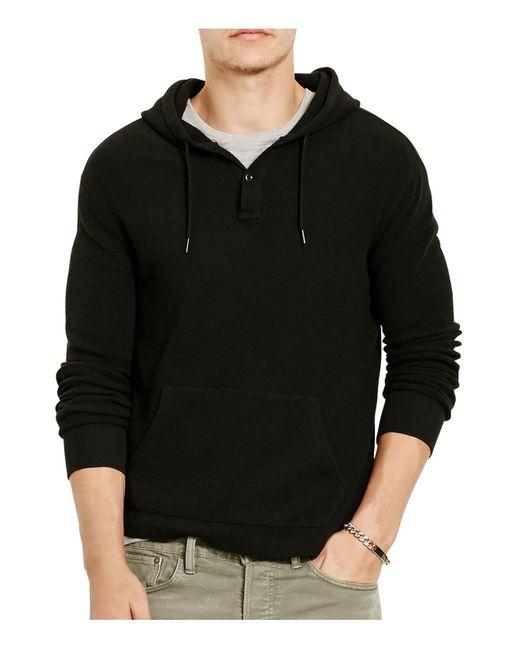 Polo Ralph Lauren | Black Cotton Jacquard Pullover Hoodie for Men | Lyst