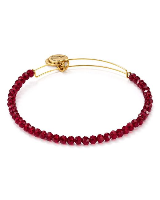 ALEX AND ANI | Red Life On Mars Brilliance Bead Expandable Wire Bangle | Lyst