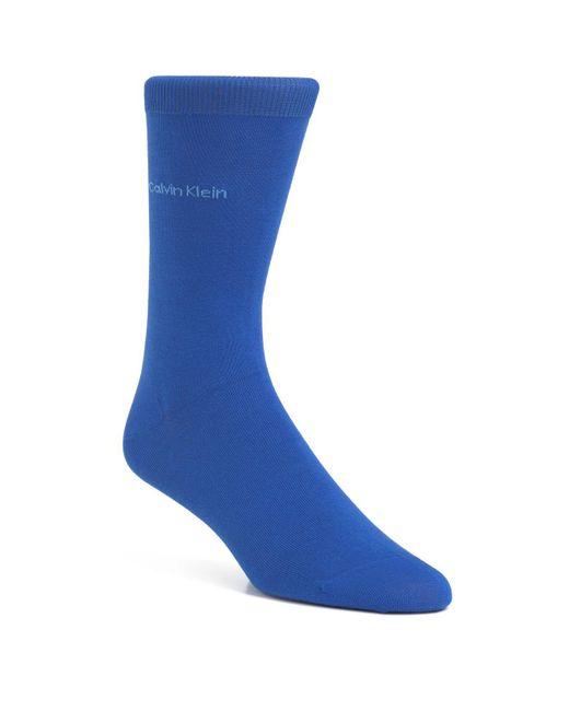 Calvin Klein | Blue Egyptian Cotton Knit Socks for Men | Lyst