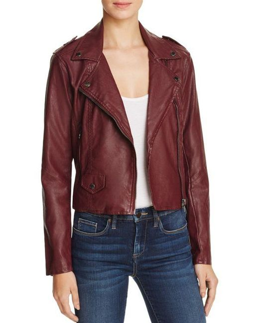 Blank Nyc Faux Leather Moto Jacket In Multicolor Lyst