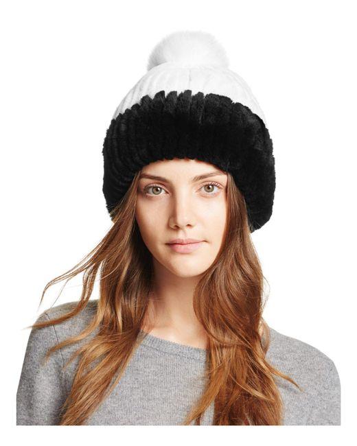 Maximilian | Black Rabbit Fur Hat | Lyst