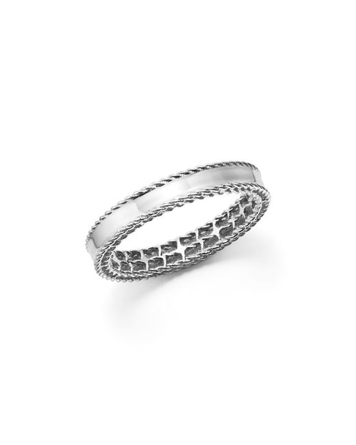 Roberto Coin | 18k White Gold Symphony Princess Ring | Lyst