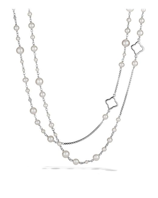 David Yurman | Metallic Pearl Chain Necklace | Lyst