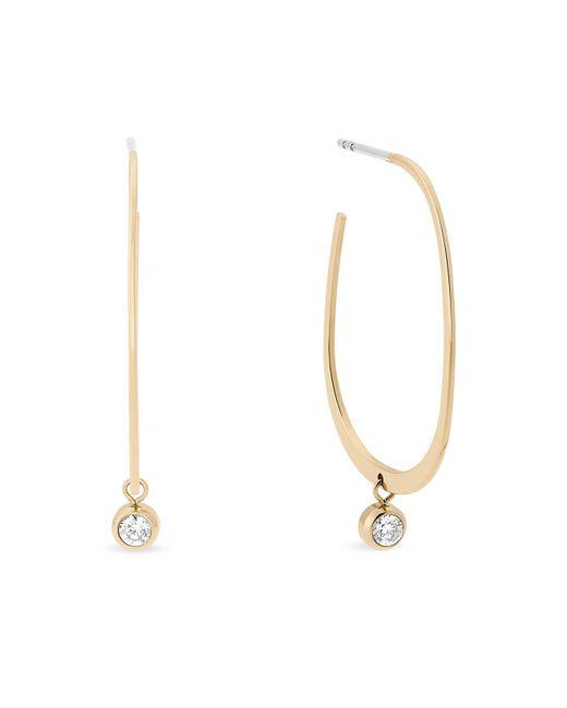 Michael Kors | Metallic Hoop Drop Earrings | Lyst