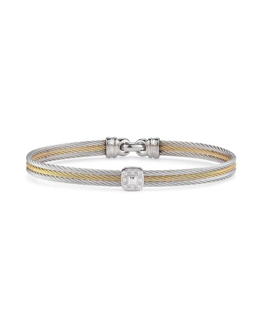 Alor | Multicolor Diamond Stacked Cable Bangle | Lyst