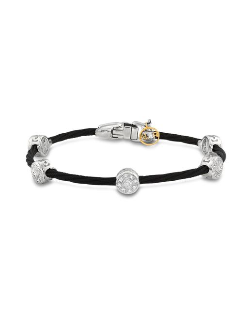 Alor | Diamond Stud Black Cable Bangle | Lyst