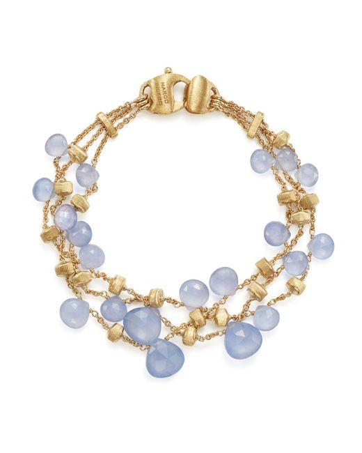 Marco Bicego | Metallic 18k Yellow Gold Paradise Chalcedony Three Row Bracelet | Lyst
