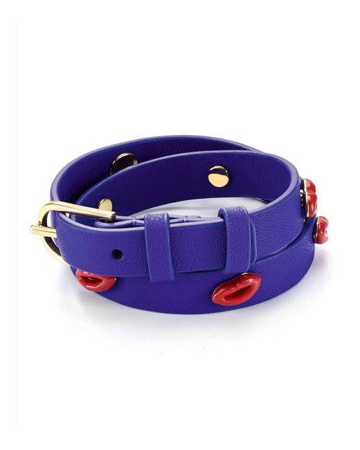 Tory Burch | Blue Lips Double Wrap Bracelet | Lyst