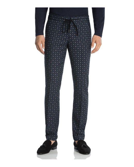 The Kooples   Black Retro Floral Print Slim Fit Trousers for Men   Lyst