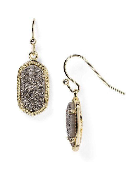 Kendra Scott - Metallic Lee Agate Drop Earrings - Lyst