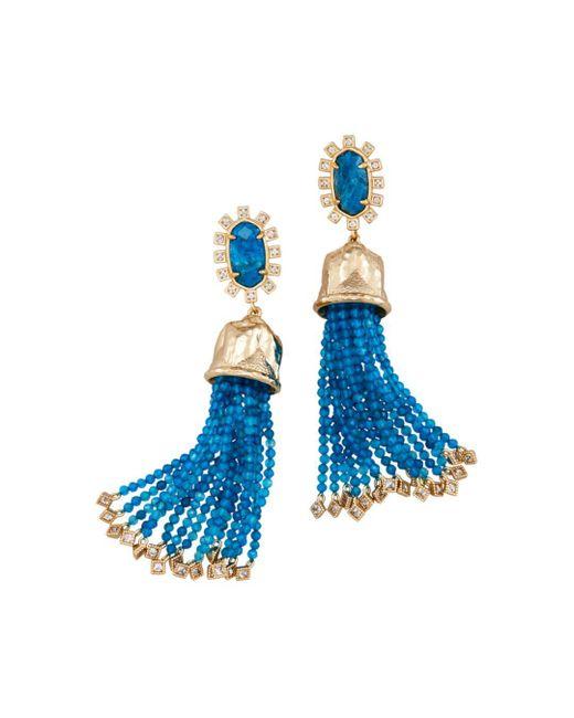 Kendra Scott - Blue Decker Bell Tassel Drop Earrings - Lyst