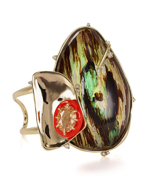 Alexis Bittar | Multicolor Structural Statement Cuff | Lyst